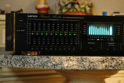 LENCO Urushi Design 20 Band Graphic Equalizer RealTime Analyzer * Vintage * RAR • 229€