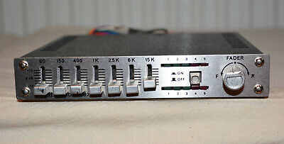 ELTA Graphic Equalizer Booster Amplifier 50+50 Watt Stereo Made In Germany Neu • 29€