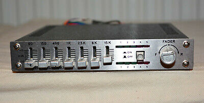 ELTA Graphic Equalizer Booster Amplifier 50+50 Watt Stereo Made In Germany Neu • 25€