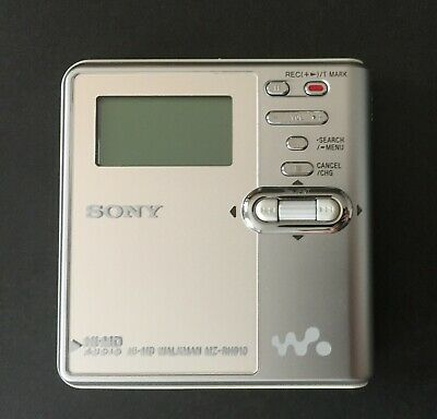 SONY Portable MD Recorder Silber + Mini Disc 80 • 111.11€