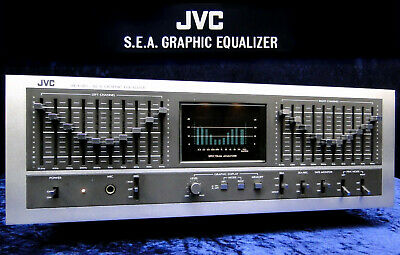 Vintage Equalizer JVC SEA-80 Sound Effect Amplifier 2x 10 Band EQ & Analyzer • 349.99€