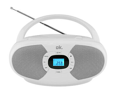 OK. ORC 131-WT STEREO CD Player (Weiß) • 29.99€
